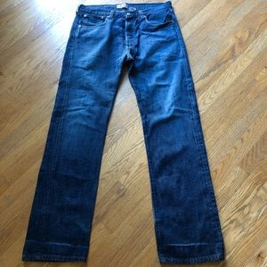 Levi's 501 Jeans Button Fly 34 X 34 Straight Leg